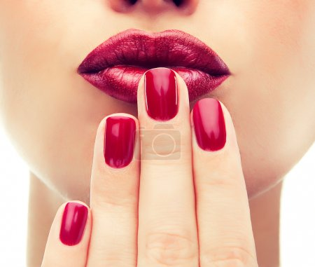 Photo for Female Make up and Manicure close up - Royalty Free Image