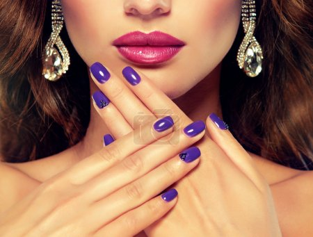 woman and stylish make up