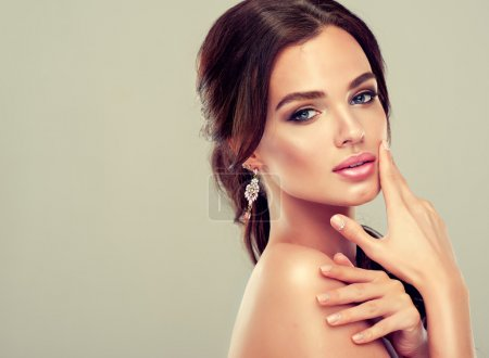 Photo for Beautiful woman and stylish make up - Royalty Free Image