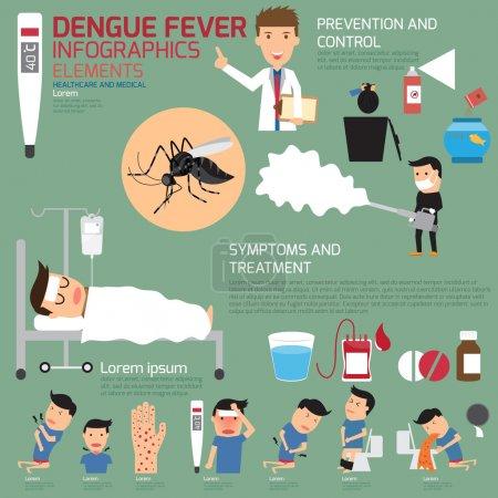 Illustration for Dengue fever infographics. vector illustration. - Royalty Free Image