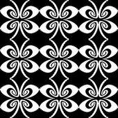 Design seamless monochrome decorative butterfly pattern