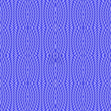 Design seamless cornflower blue knitted pattern
