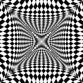 "Постер, картина, фотообои ""Дизайн монохромных движения иллюзия клетчатый фон"""