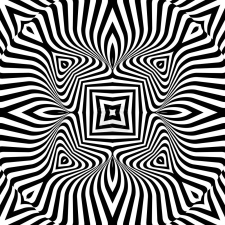 Design monochrome textured illusion background