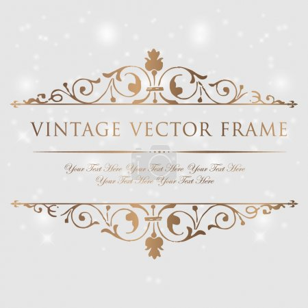 Illustration for Vintage floral frame. Element for design. - Royalty Free Image