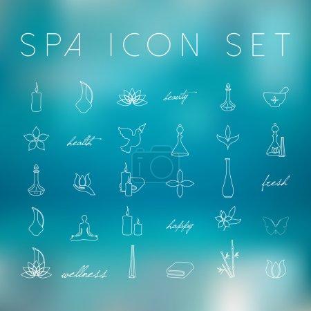 Illustration pour Ensemble d'icônes vectorielles Spa - image libre de droit