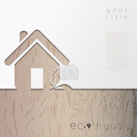 Illustration pour Maison écologique moderne. Concept Vector - image libre de droit