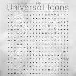 Постер, плакат: Set of 340 Quality icons