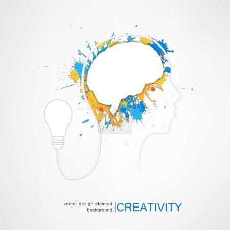 Illustration pour Concept créateur d'idée, illustration de vecteur - image libre de droit