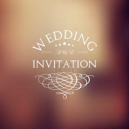 Wedding card in retro style