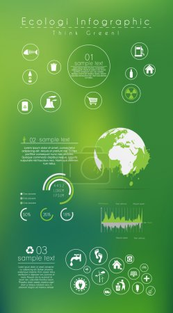 Abstract ecology infographic