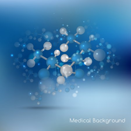 Abstract molecules design background