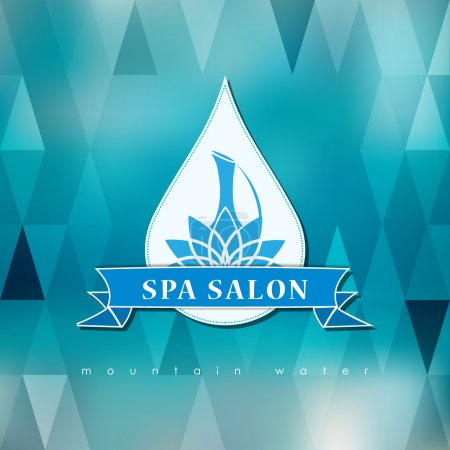 Abstract  logo template for spa, Yoga