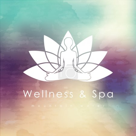 logo template for spa, Yoga
