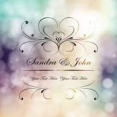 Wedding card or invitation  background Gree