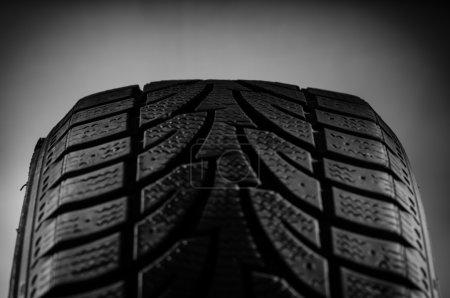 Rubber tire in studio