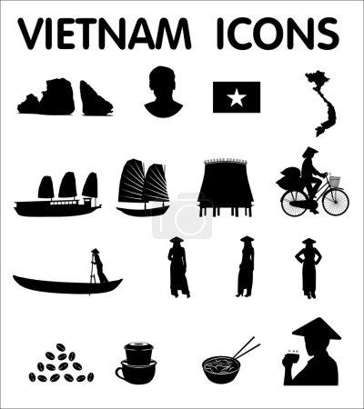 Vietnam vector icons