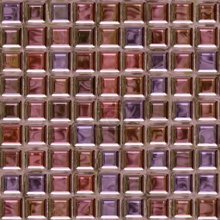 Pink glass brick pattern