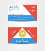 Two sided eccentric and extraordinary business cards template