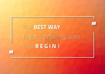 Motivational poster for those who procrastinate