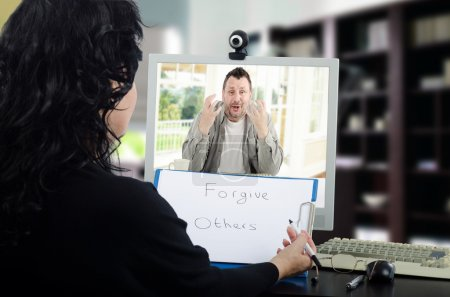 Online psychotherapy for mental disordered man