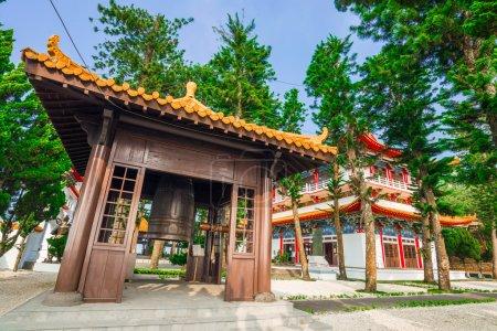 Architecture of Wen Wu (Wenwu) Temple on Sun Moon Lake in Taiwan