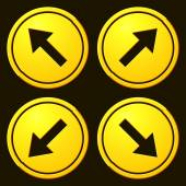 Directional Arrows Yellow Signs Danger and Caution Street Signs Collection Road Signs