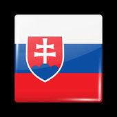 Flag of Slovakia Glossy Icons Square Shape This is File from the Collection European Flags