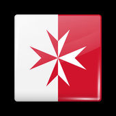 Flag of Malta Glossy Icons