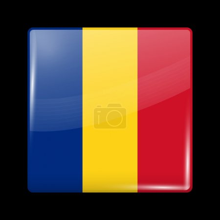 Flag of Romania. Glossy Icons