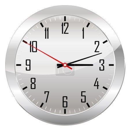 Analog Clock Isolated on a White Background