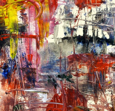 Photo for Abstract acrylic painting on canvas, artistic background - Royalty Free Image