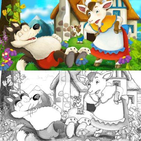 Photo pour Illustration joyeuse et colorée pour les enfants - image libre de droit
