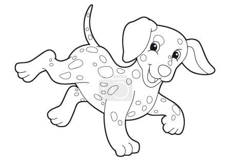 Photo pour Chien - coloriage - illustration pour les enfants - image libre de droit