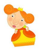 Kreslený princezna dítě