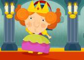 Kreslená postava princezny