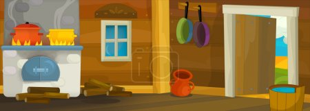Photo for Cartoon background - illustration for the children - Royalty Free Image