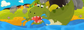 Kreslený drak - ilustrace