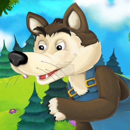 Cartoon fairy tale   wolf