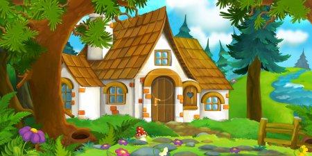 Cartoon scene - house