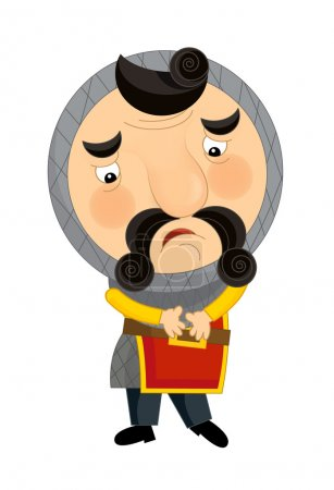 Cartoon medieval character - isolated