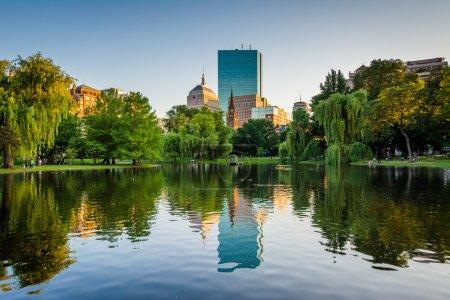 The lake at the Boston