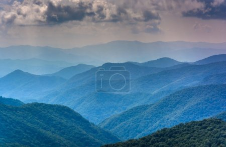 Layers of the Blue Ridge Mountains seen from the Blue Ridge Park