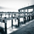 Pier posts in the Severn River and the Naval Acade...