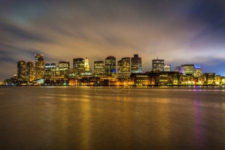 Photo for The Boston skyline seen from LoPresti Park in East Boston, Massachusetts. - Royalty Free Image