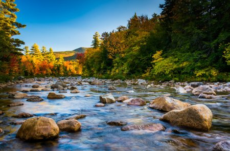 Autumn color along the Swift River, along the Kancamagus Highway