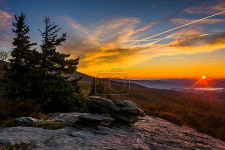 Autumn sunrise from Beacon Heights, on the Blue Ridge Parkway, N