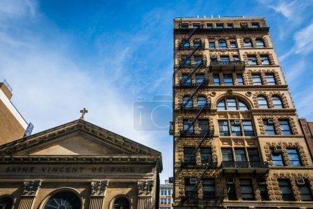 Photo pour Église de Saint Vincent de Paul à Manhattan, New York. - image libre de droit