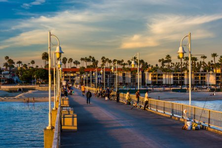 Photo for The Belmont Pier in Long Beach, California. - Royalty Free Image