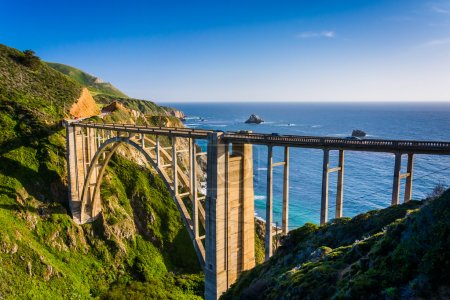 Bixby Creek Bridge, in Big Sur, California.